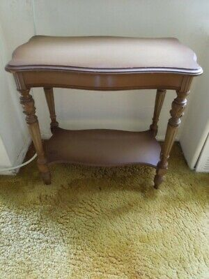 "Rare ANTIQUE Depression Era Wood Carved End Side Table 1930's ""NRA"" est $995.00"