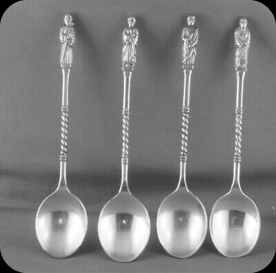Lot of Four Monk Apostle Twisted Handle Collector Spoons