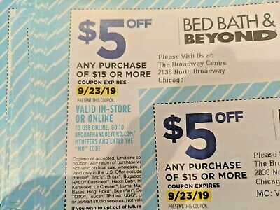 25 Bed Bath & Beyond Coupons $125 value BBB Save $5 off $15 purchase exp Lot set