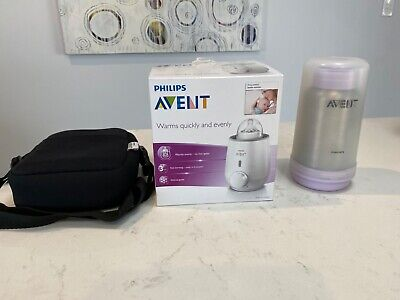 Philips Avent baby bottle & food warmer and travel portable bottle warmer + bag