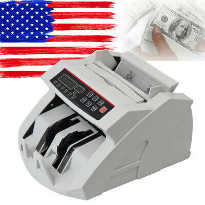 Bill Counter Money Counting Cash Machine Counterfeit Detector UV MG Bank From US