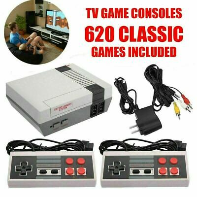 Vintage Retro TV Game Console Classic 620 Built-in Games 2 Gamepad Gift