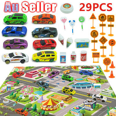 29Pcs Children Mats Baby Kids Rug City Carpet Car Play Mat Track Educational Toy