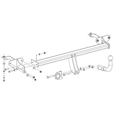 Fixed Swan Neck Towbar For Fiat 500L Trekking Hatchback 13 on 13161//F/_H1