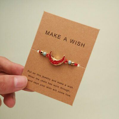 Fashion Moon Rope Bracelet Bangle Friendship Couple Card LuckyJewellery Red