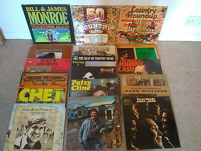 LARGE COLLECTION OF 200 APPROX  COUNTRY LP's     CON EX