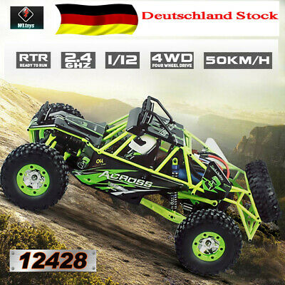 Wltoys 1/12 2.4G 4WD 50km/H Electric Brushed Crawler RTR Off Road RC Car DHL