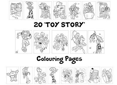 TOY STORY Colouring Pages - 20 Sheets - Perfect for Rainy Day Craft!