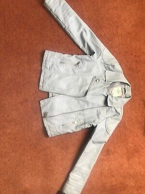 marks and spencer, Girls Light Blue, Faux Leather Jacket Age 9-10