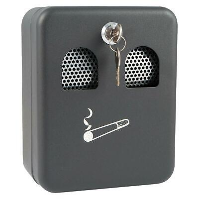 Wall Mounted Metal Lockable Outdoor Cigarette Ashtray Ash Bin With Lock Outdoor
