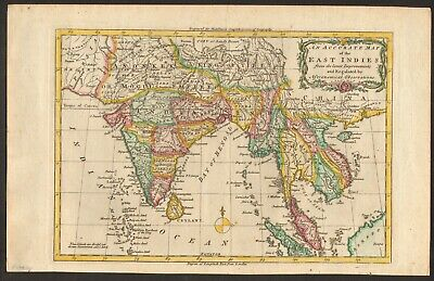 1779 Map of the East Indies by Charles T. Middleton