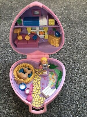 100% COMPLETE vintage POLLY POCKET KOZY KITTIES compact 1993 Bluebird