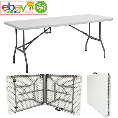 New Folding Table Trestle Catering Camping Picnic Party BBQ Indoor Outdoor 5FT