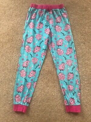 Girls Turquoise Moshi Monsters Poppet Pyjama Leggings Trousers by M&S. Age 9-10