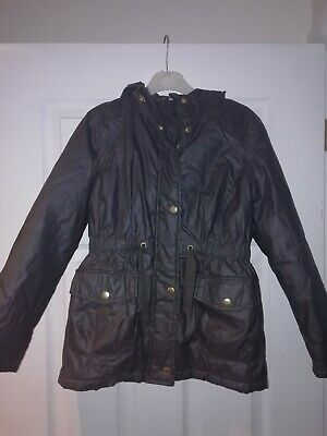 Girls George ASDA Coat Age 9-10 Years with hood