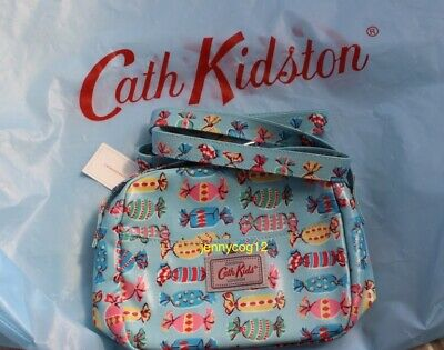 Cath Kidston Kids Girls Oilcloth Shoulder Cross Body Hand Bag Candy Sweets Blue