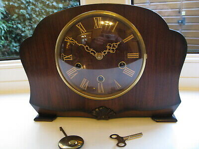 Lovely Smiths 1950s Westminster Chime Mantle clock,Working See Listing.