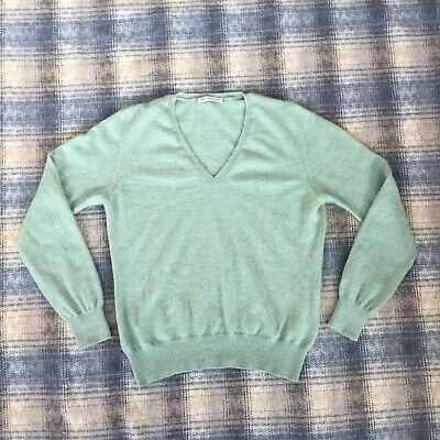 Marks And Spencer Autograph Pure Cashmere Ladies Jumper Size 12 UK Womens Green