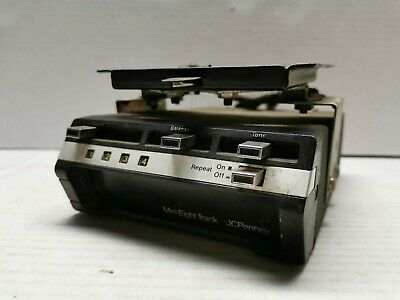 Vintage Mini-8 Track JC Penney Under Dash Auto 8 Track Tape Player