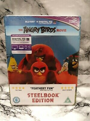 The Angry Birds Movie Bluray Steelbook Edition Brand New & Sealed