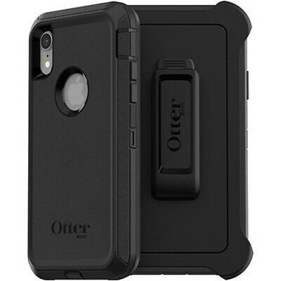 """OEM OtterBox Defender Series Black Case For iPhone XR 6.1"""" (with Holster/Clip)"""