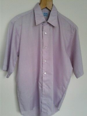 Vintage Le Roi Shirt Lilac Pink 16 1/2 Collar Made In England