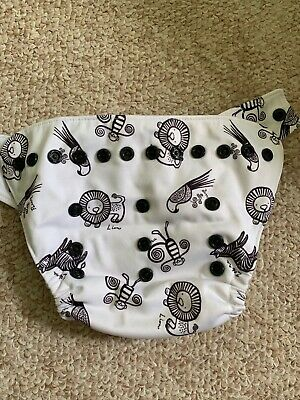 Grovia Wild Things Animals Zoo Monkey Jungle - Hybrid Diaper Shell - Snap - EUC