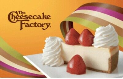 cheesecake factory giftcard + 3 free cheesecake slices