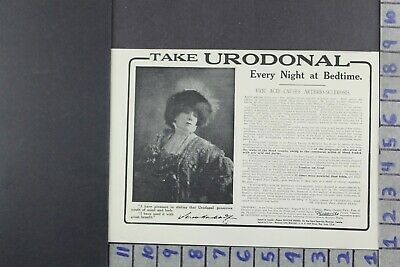 1915 Medical Health Urodonal Beauty Doctor Remedy Fashion Ad Dy050
