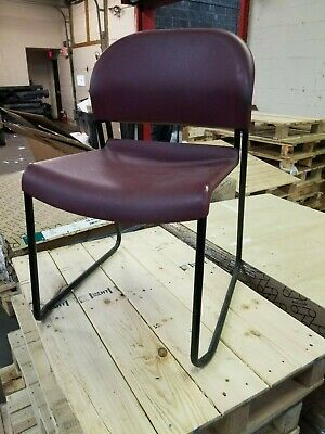 Hon  High Density Stacking Chairs - Steel Tubular Frame Model 4031 (Lot Of 4)