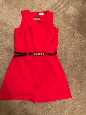 River Island Girls Red Playsuit Age 12 Years