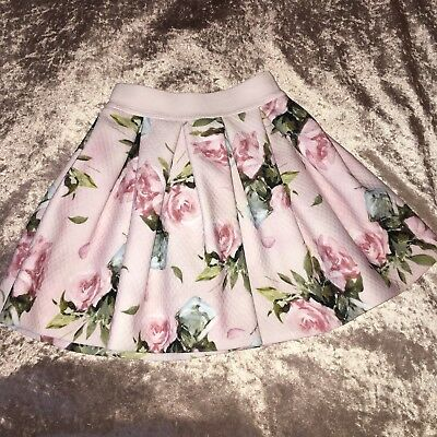 £93 Monnalisa Pink Floral Quilted Tutu Skirt Beautiful Print Party NEW 4 Years