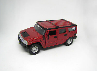 Maisto Hummer H2 SUV 1/46 Burguny Red Diecast Car Toy Collectible. No box