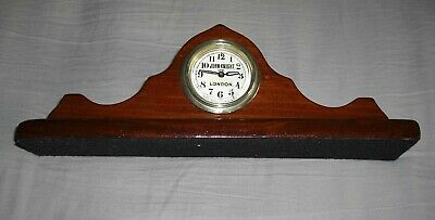 Unusual Hand Made Small Wooden Mantle Clock