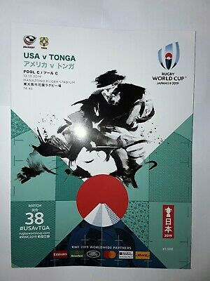 USA V Tonga Rugby World Cup 2019 Programme