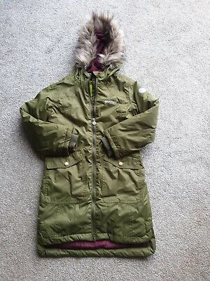 Regatta Boys & Girls Hollybank Waterproof Insulated Parka Coat Jacket Age 5-6