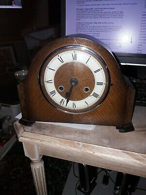 Vintage Anvil Mantle Clock With Modern Quartz Movement