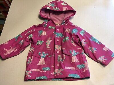 Pink Bear Hatley Raincoat Waterproof Lined Winter Spring 6-12 Month 12-18