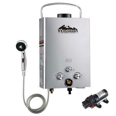 WEISSHORN Outdoor Portable Gas Hot Water Heater Shower Camping LPG Caravan Pump