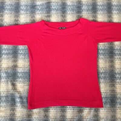 Marks And Spencer Autograph Pure Cashmere Ladies Jumper Size 18 Womens Pink Top