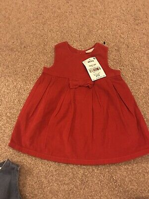 Next BNWT Size Up To One Month Red Girls Cord Dress