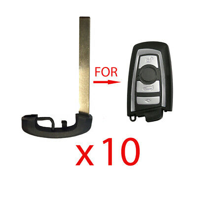 New Smart Emergency Key Replacement Uncut Blade for BMW (10 Pack)