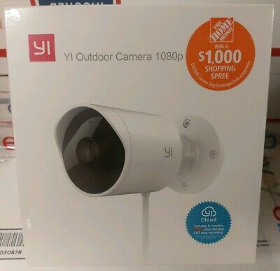 YI Outdoor wide angle Security Camera 1080p HD video, nite vision, weatherproof