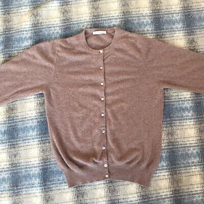 Marks & Spencer Autograph Pure Cashmere Ladies Cardigan Size 12 UK Womens Jumper