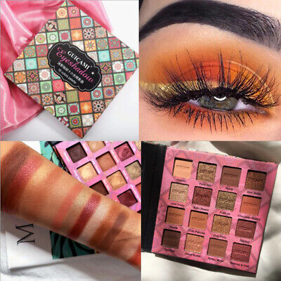 16Colors Eyeshadow Palette Matte Pearlescent Shimmer Glitter Eye Shadow Cosmetic