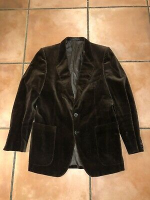 Men's YVES SAINT LAURENT VINTAGE 2  BUTTON DOWN   VELOUR BLAZER JACKET Sz M