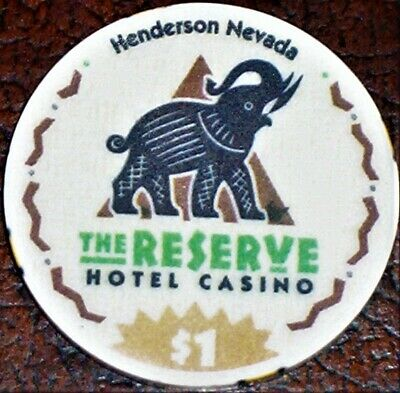 Old $1 THE RESERVE Hotel Casino Poker Chip Vintage Chipco Mold Henderson NV 1998