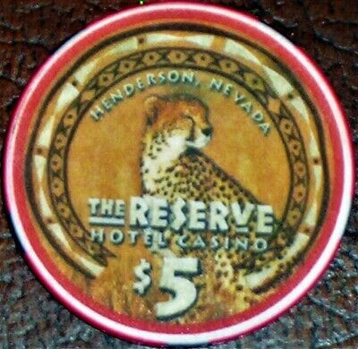 Old $5 THE RESERVE Casino Poker Chip Vintage Antique Chipco Mold Henderson NV