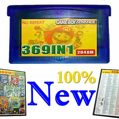 1* 369 Games in 1 Game Cartridge Multicart Card for GBA NDS GBA SP GBM NDS NDSL
