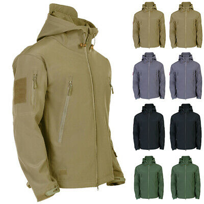 Waterproof Winter Mens Outdoor Jacket Tactical Coat Soft Shell Military Jack LM
